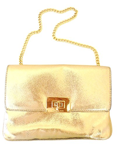 MICHAEL KORS Sloan Chain Clutch Shoulder Bag in PALE GOLD