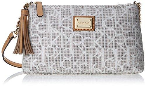 Calvin Klein Monogram Tassled Cross Body Bag
