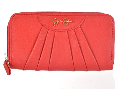 JESSICA SIMPSON *EMMY* Crimson Double Zip Wallet