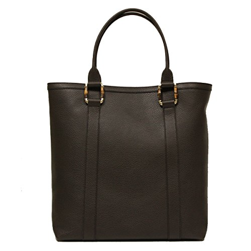 Gucci Bamboo Top Handle Large Brown Leather Portfolio Business Tote Bag