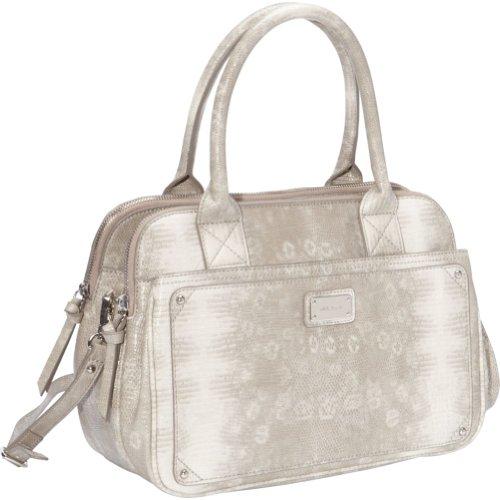 Nine West Handbags Double Vision Satchel (Light Paris Mushroom)