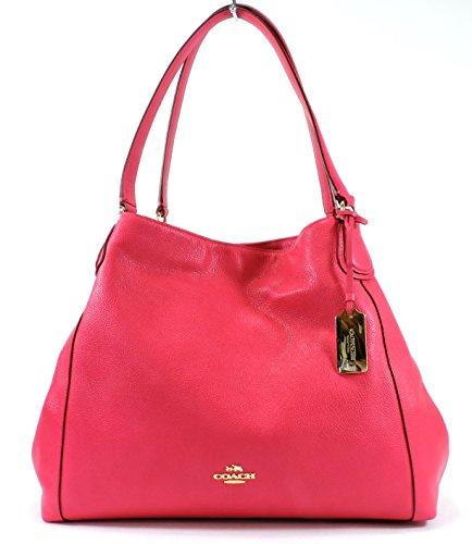Coach Pebble Leather Edie Shoulder Bag, Style 3547