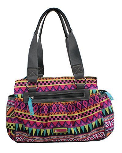 Lily Bloom Triple Section Satchel Handbag, Multi