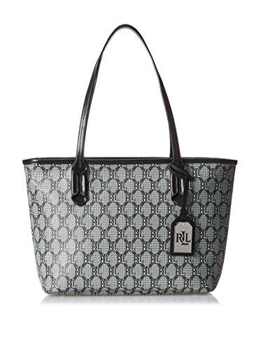 Lauren Ralph Lauren BlackWell Canvas Shopper Tote Handbag Shoulder Bag