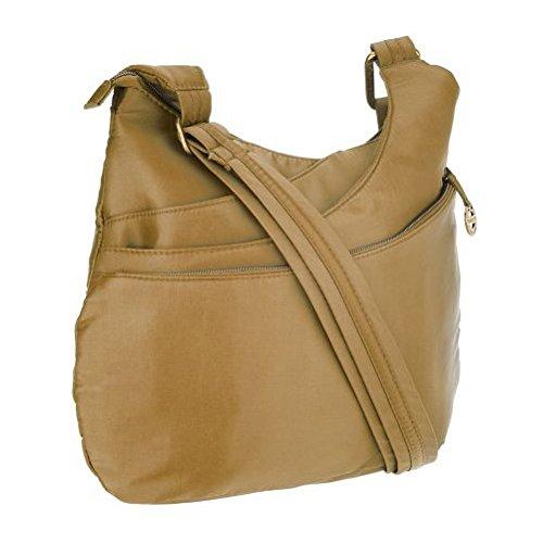 Travelon Anti-Theft Drape Pocket Crossbody – Gold