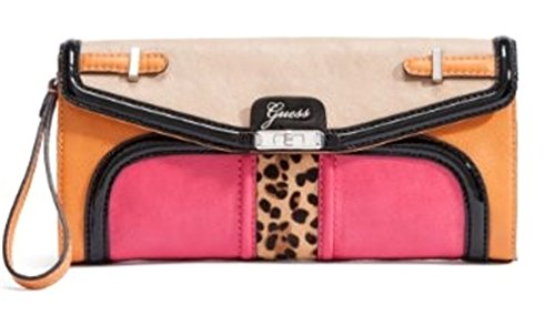GUESS Women's Tasya Clutch Bag, Pink Multi