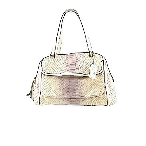 Coach Madison Pinnacle Georgie Womens Nude Purse Leather Satchel