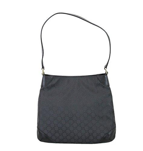 Gucci Nylon Black Hobo Handbag Shoulder Bag 257296 1000