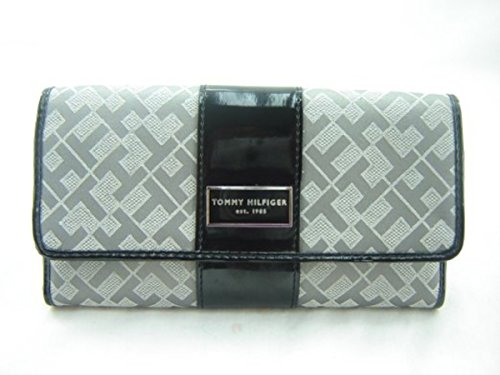Tommy Hilfiger Women's Checkbook Wallet Gray Navy