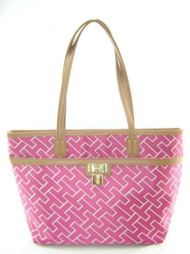 Tommy Hilfiger Shopper Tote Handbag Pink
