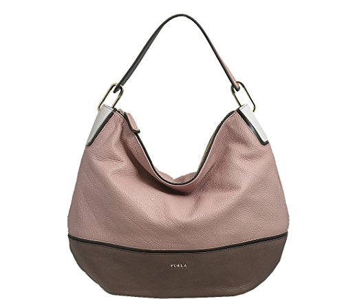 Furla Zizi Leather Shoulder Bag Amande – Sigaro