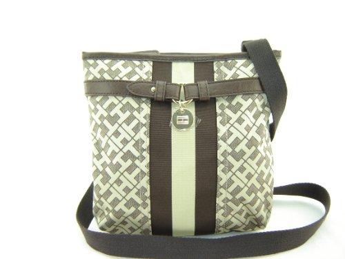 Tommy Hilfiger Xbody Crossbody Handbag Purse Brown Multi
