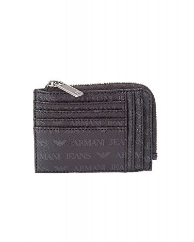 ARMANI JEANS CARD AND COIN HOLDER BLACK 06V63-J4-12