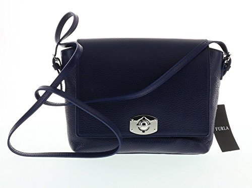 Furla New Appaloosa Pebbled Leather Cross Body Shoulder Bag (Notturno 026)