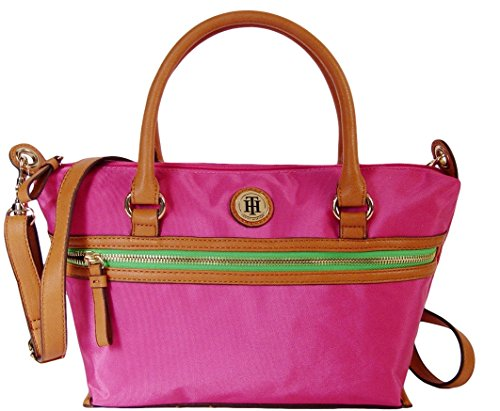 Tommy Hilfiger Women's/Girl's Convertible Satchel Handbag, Pink
