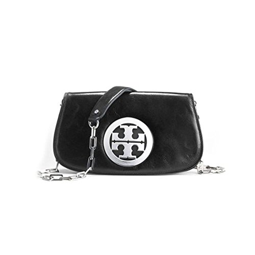 Tory Burch Logo Womens Leather Clutch