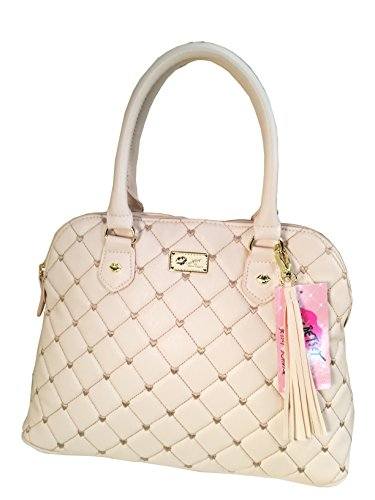 LUV BETSEY by Betsey Johnson Lbharper Satchel Top Handle Bag, Ivory, One Size