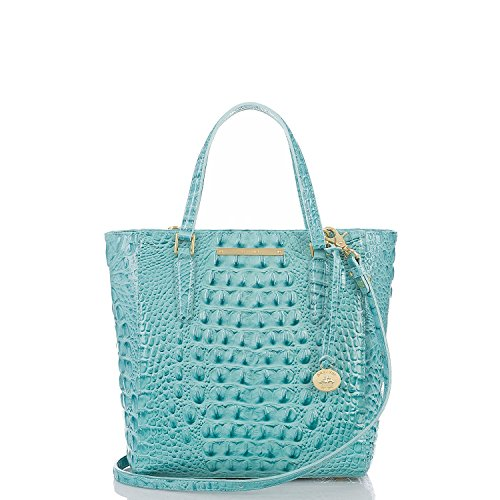 Brahmin Harrison Glossy Melbourne Tote Tourquoise