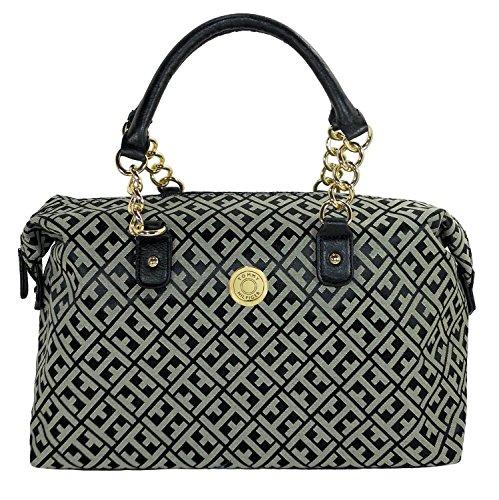 Tommy Hilfiger Women Bowler Satchel Handbag