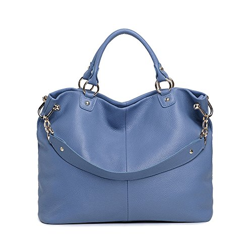 Kattee Soft Genuine Leather Lady 3-Way Satchel Tote Handbag