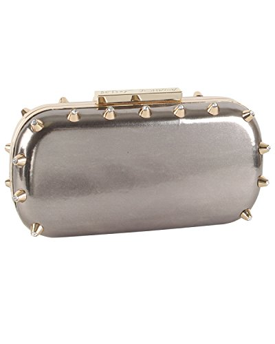 Betsey Johnson Spiked Clutch – Pewter
