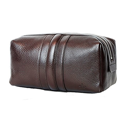 Gucci Leather Vanity Clutch Bag Purse in Brown