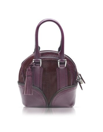 Pineider 1774 Limited Edition Micro Leather Bowling Bag Burgundy