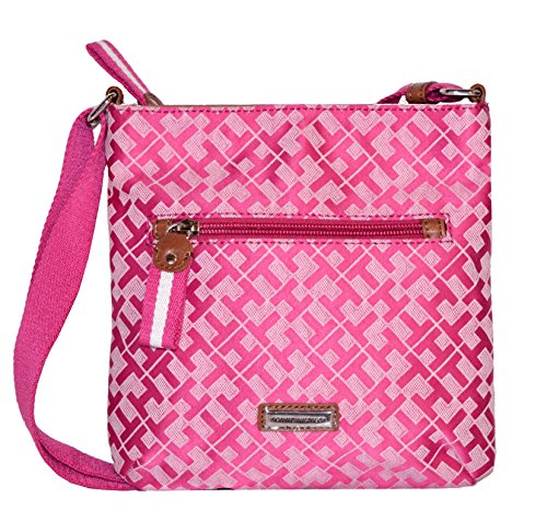 Tommy Hilfiger Small Crossbody Xbody Handbag, Pink