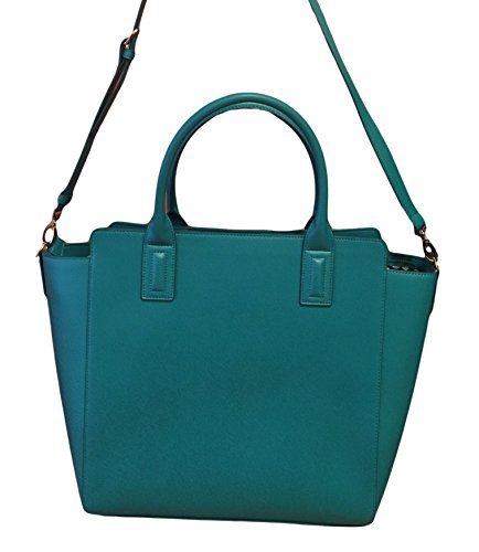 Gorgeous Vera Bradley Large Handbag Tote in Teal Faux Leather Collection LIMITED EDITION