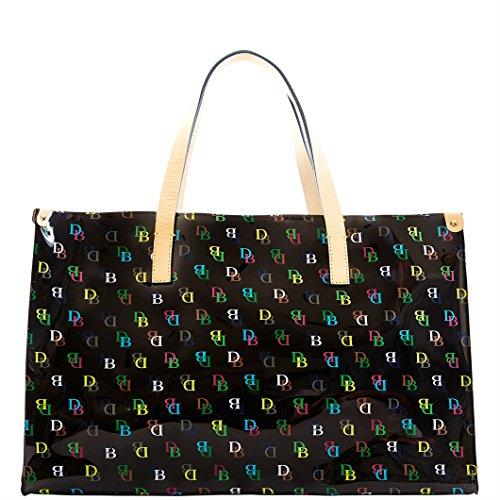 Dooney & Bourke Large IT Shopper Tote Handbag Purse Black