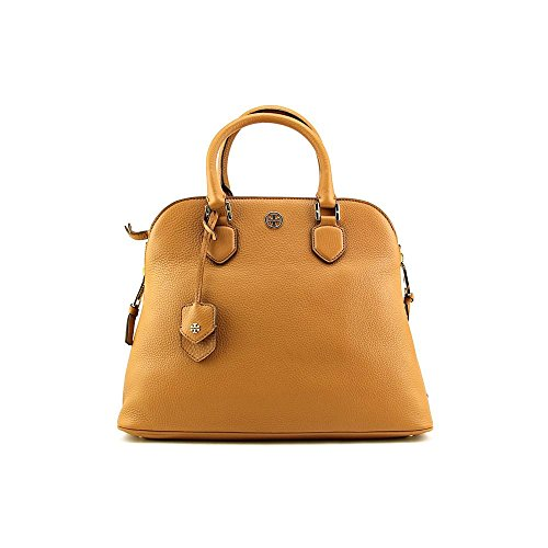 Tory Burch Robinson Pebbled Open Dome Womens Leather Satchel