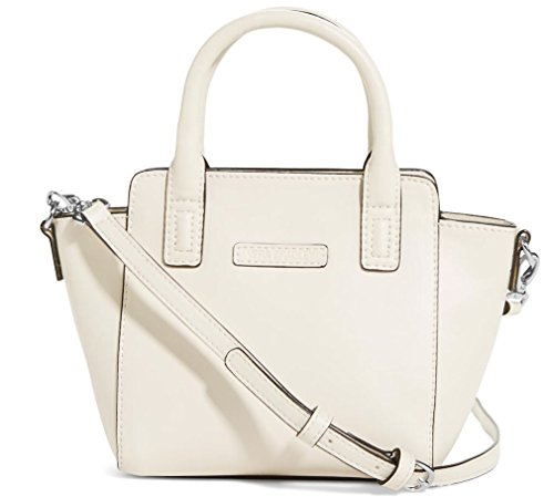 Gorgeous Vera Bradley Mini Crossbody Satchel Handbag in Off White Faux Leather Collection