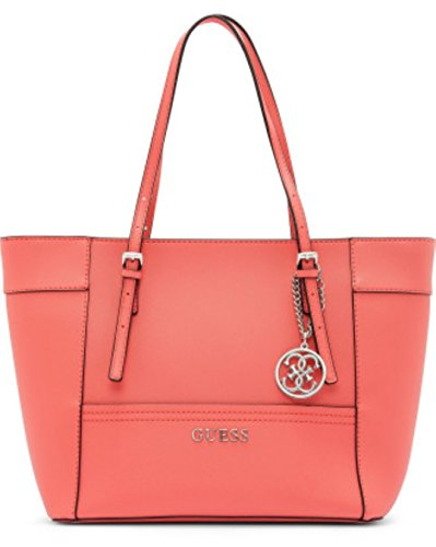 GUESS Delaney Women's Tote Bag, Coral