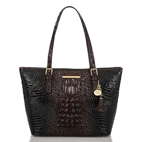 NEW AUTHENTIC BRAHMIN MEDIUM ASHER SHOULDER TOTE (Cocoa Melbourne)