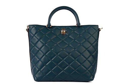 DOLCE&GABBANA women's leather handbag shopping bag purse green