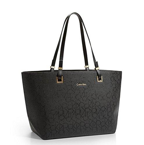 Calvin Klein Jordan Shopper Tote Signature Bag Black Tint