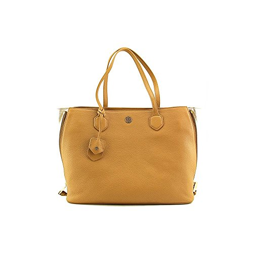Tory Burch Robinson Pebbled Side-Zip Womens Leather Tote
