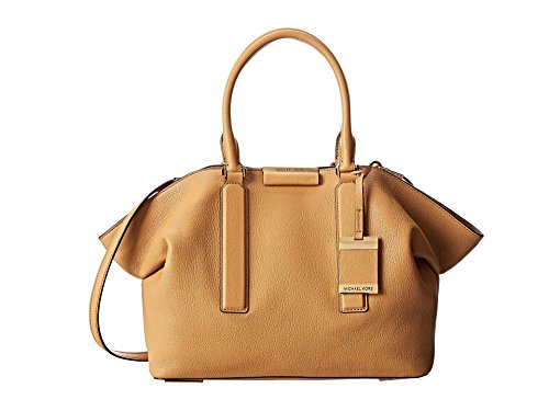 Michael Kors LexI Large Kidskin Leather Satchel Bag peanut