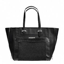 Coach Taylor Wool Croc Large Leather Fashion Tote Purse – #F33395