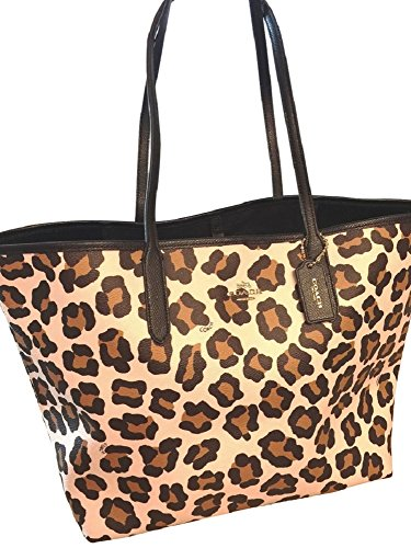 Coach – 35874 – Ocelot Print Large Shoulder Bag Tote