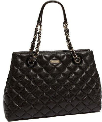 Kate Spade Gold Coast Maryanne Black Leather Handbag