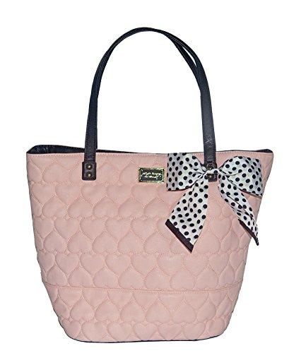 Betsey Johnson Be Mine Key Item Tote Shoulder Handbag Blush