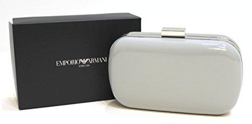 EMPORIO ARMANI PARFUMS GREY CLUTCH BAG WITH SILVER TRIM * NEW & BOXED