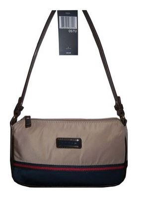 Tommy Hilfiger Handbag Hobo Evening Bag Canvas Beige