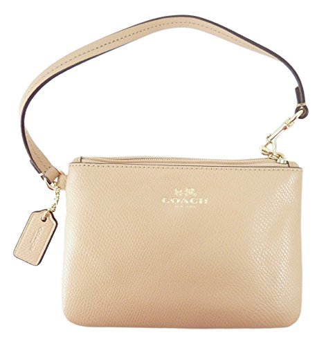 Coach Crossgrain Leather Small Wristlet Nude F52850IMNUD