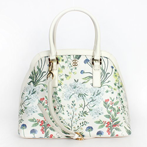 Tory Burch Robinson Printed Canvas Open Dome Satchel Watercolor