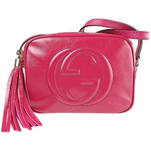 Gucci Soho Fuschia Pink Patent Leather Crossbody Bag 308364