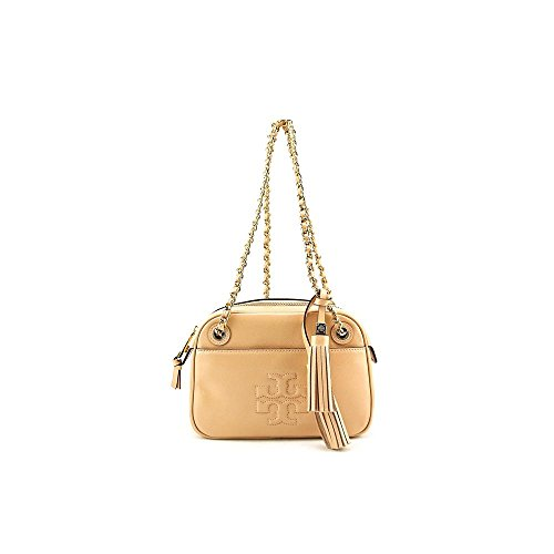 Tory Burch Thea Patent Chain Womens Patent Leather Messenger