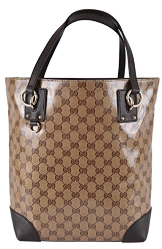 Gucci Women's Crystal Line Coated Canvas GG Guccissima Tote