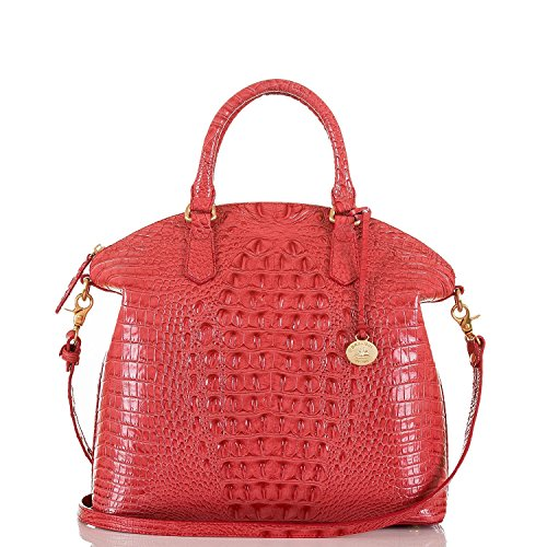 NEW AUTHENTIC BRAHMIN LARGE DUXBURY EXOTIC CROC LEATHER CARRYALL SATCHEL (Tulip Melbourne)